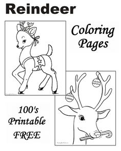 Reindeer Coloring Pages For Christmas