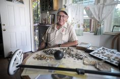 """You never knows what's under your toes"" grins Cliff Rogers, a man whose hobby is hunting for treasure. A member of a group called the Gold Country Treasure Seekers, he and other members search all over the world for gold, silver, coins, gems, rings and antiques. El Dorado...  #mountaindemocrat #News #A1, #Featured, #Printed"