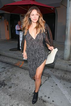 Leggy display:Katharine McPhee showed off her gorgeous gamsas she left Craig's in West Hollywood, California, on Tuesday