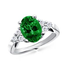 Emerald Engagement Ring... pretty