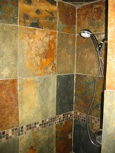 Slate tile in the shower Bathrooms Forum GardenWeb Bathroom