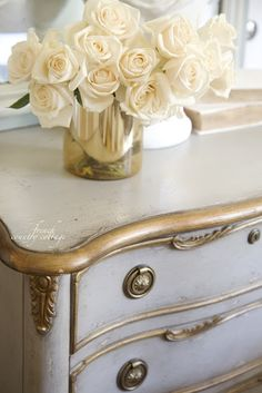 Elegant amplified french country shabby chic home Free gift with purchase French Country Bedrooms, French Country Cottage, French Country Style, French Country Decorating, Cottage Farmhouse, Vintage Furniture Design, French Furniture, Painted Furniture, Country Furniture