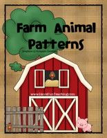 Farm Sequencing Activity: Use the farm animal cards to complete the animal patterns. Then use the worksheets included to check for understanding and draw your own patterns and sequences. Information: Sequencing, Sequence, Pattern, Farm Theme, Farming
