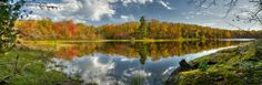 Turtle Lake Reflections by Don Olson on Capture Minnesota // Turtle lake is on the Grand Portage band of Ojibwa reservation near Mt. Sophie. The fall colors in this area are amazing.