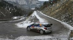 WRC 2013: Rallye Monte Carlo: Now that's how to get around an icey corner on a downhill mountain pass, freaky!!!!