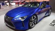 The Lexus LC 500h hybrid supercar makes its world premiere at the Geneva Motor Show. It is the flagship vehicle of the Lexus brand.