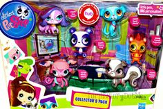 Littlest Pet Shop LPS Collector's Pack Penny Ling Russell Minka Zoe Trent Sunil