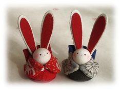 Japanese Kimono, Japanese Art, Japanese Things, Japan Crafts, Rabbit Art, Kimono Fabric, Japanese Embroidery, Chibi, Coin Purse