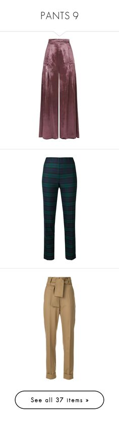 """""""PANTS 9"""" by noconfessions ❤ liked on Polyvore featuring pants, capris, cropped, purple, red crop pants, pleated trousers, cropped trousers, red velvet pants, draped pants and blue"""