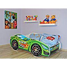 Popular Autozimmer Kinderzimmer im Auto Design Ideen f r die Kinderzimmereinrichtung Autobett gr n