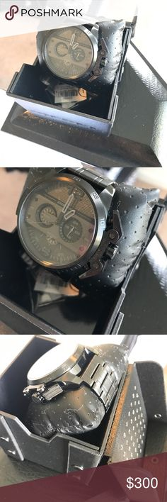 Brand New Diesel Watch ⌚️ BRAND NEW DIESEL Ironside Chronograph Black Staineless Steel Watch.                                                                                     Case Size: 48x55mm.                                                                        Band Width: 44mm.                                                                          Water Resistant: 5ATM.                                                                    100% Authentic | Brand New WITHOUT TAG! Diesel…