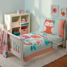 Carter's Too Cute To Hoot 4 Piece Toddler Bedding Set & Reviews | Wayfair