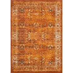 Banat Terracotta/Orange Area Rug