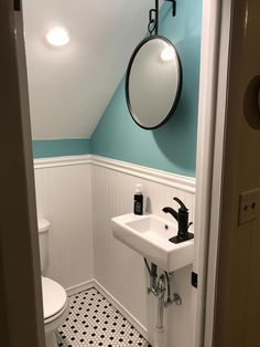 Ideas and inspiration for a dream master bathroom. Find all sorts of bathroom design tips, whether you have got a small bathroom or a luxury bathroom, just looking for bathroom remodel suggestions or bathroom style. Do your online business in style. Drop In Bathroom Sinks, Attic Bathroom, White Bathroom, Bathroom Storage, Bathroom Ideas, Bathroom Organization, Bathroom Cabinets, Master Bathrooms, Bathroom Mirrors