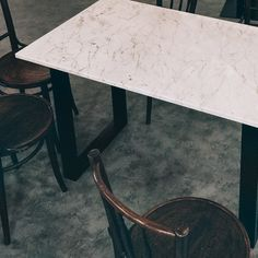 #project / A Custom Order Of Our Marble Slab Tables Sent To Unilever  Foundry!