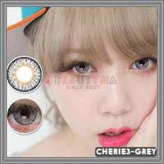Grey Diameter : Base Curve : Water Content : Life Span: 1 Year Disposable (recommend use for months) with proper lens care. Package : 2 pieces of lenses ( Vials / Blisters – vary by series ) Origin: South Korea Grey Contacts, Colored Contacts, Circle Lenses, Cute Eyes, Christmas Sale, 8 Months, South Korea, 1 Year, Catalog