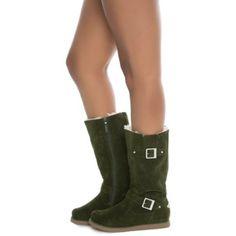 Shiekh Women s Fur Interior Boot Urban Buckle 213c9e62450f