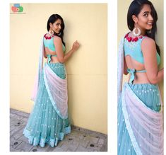 The much awaited list is here Ladies. Have a look at the latest blouse designs trends for this year. The list will surely amaze you. Read on. Blouse Back Neck Designs, Fancy Blouse Designs, Saree Blouse Designs, Blouse Styles, Blouse Designs Wedding, Latest Blouse Designs, Lehenga Designs Latest, Latest Blouse Patterns, Saree Styles