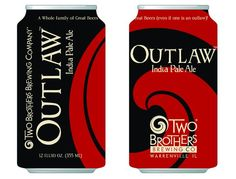 Outlaw IPA from Two Brothers in cans!