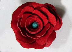 """Leather Rose Necklace How to make a leather rose"" (quote) via happyfamilyart.com"