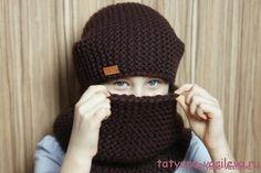 Вязаная шапка-бини и снуд (Вязание спицами) | Журнал Вдохновение Рукодельницы