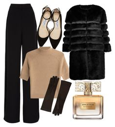 chic o' by mayaop on Polyvore featuring polyvore fashion style Theory AINEA Rochas Jimmy Choo Barneys New York Givenchy clothing