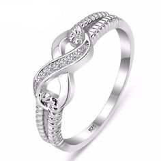 Silver Classic Infinity Promise Rings - Christmas Gifts - Gifts For Her