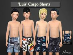 Found in TSR Category 'Sims 4 Male Child Swimwear'Luis Cargo Shorts. Found in TSR Category 'Sims 4 Male Child Swimwear' Sims 4 Toddler Clothes, Sims 4 Cc Kids Clothing, Sims 4 Teen, Sims Cc, Disney Family, The Sims 4 Bebes, The Sims 4 Cabelos, Sims 4 Children, Sims4 Clothes