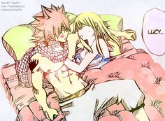 natsu and lucy being adorable ^_^