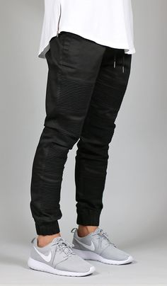 Black Moto Tapered Jogger