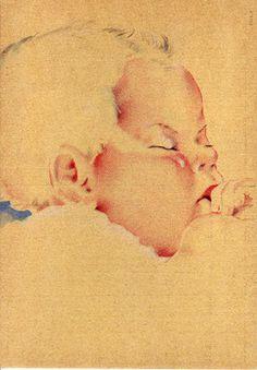 Kinderportret. Designer onbekend. Niet gelopen kaart. Zie www.postersquare.com