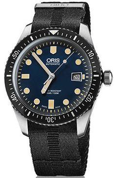 @oris Watch Divers Sixty Five Date Nato Black Pre-Order