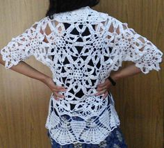 ICE CRYSTAL BOLERO free crochet pattern