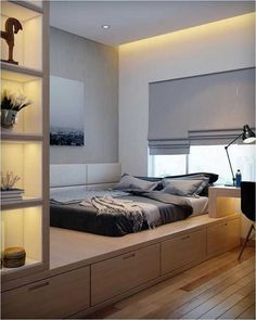 minimalist bedroom ideas for small rooms - Do not let limited space hinder you f. minimalist bedroom ideas for small rooms – Do not let limited space hinder you from getting a min Small Bedroom Designs, Small Room Bedroom, Small Rooms, Bed Room, Long Bedroom Ideas, Small Space, Design Bedroom, Master Bedroom, Modern Minimalist Bedroom