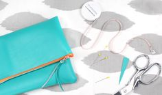 Beginners' Fold-Over Clutch Bag ❁ Free Sewing Tutorial