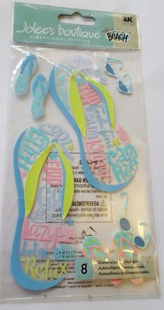 Bnip jolees boutique card #making embellishments jumbo flip flop #holidays #glass,  View more on the LINK: http://www.zeppy.io/product/gb/2/401270027312/