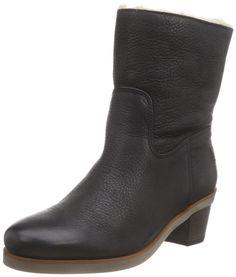 Shabbies Amsterdam Shabbies 16cm booty heel 4cm Norfolk sole WOOL lined as FW2014 Feline, Damen Halbschaft Stiefel, Schwarz (Black 002), 36 EU
