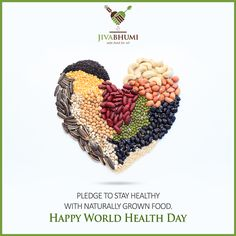 Jivabhumi wishes you a Happy World Health Day. Stay healthy with chemical free food products. Shop for them at: http://bit.ly/shop_jivabhumi #WorldHealthDay #Health #Food #Natural #Farm