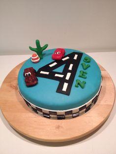 Simpele Cars taart