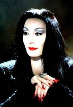 Morticia Costume..close up of nails and make up. Need to buy wig