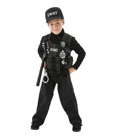 Look what I found on #zulily! Black SWAT Team Dress-Up Set - Boys by Adventure Factory #zulilyfinds