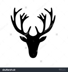 Find Illustration Deer Head Silhouette Isolated On stock images in HD and millions of other royalty-free stock photos, illustrations and vectors in the Shutterstock collection. Hirsch Silhouette, Deer Head Silhouette, Reindeer Silhouette, Silhouette Clip Art, Silhouette Images, Hirsch Tattoo, Elk Head, Reindeer Head, Wiccan