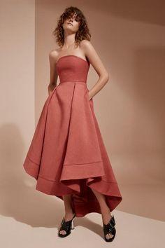 WE WOKE UP FULL LENGTH DRESS rosewood