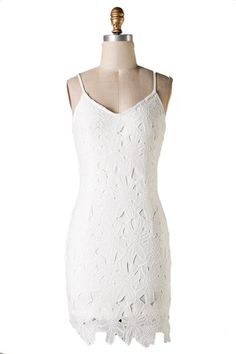 Lady Luck Lace V Back Dress - White