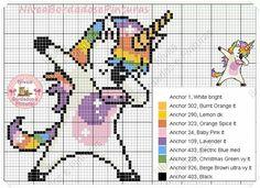 Pin by Sabine Kri on Kreuzstich Unicorn Cross Stitch Pattern, Unicorn Pattern, Cross Stitch Art, Beaded Cross Stitch, Crochet Cross, Modern Cross Stitch, Cross Stitch Designs, Cross Stitching, Cross Stitch Embroidery