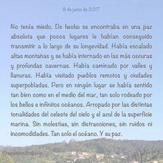 8 de junio de 2017 : #MicrocuentoZ #: #DíaMundialDeLosOcéanos #océano #paz #mar #microcuento #microcuentos #microcuentos2017 #microrrelato  #apuntesdediario #cuento #breve #literatura #relato #texto #text #artistsoninstagram  #junio #june #201706 #mediodia #noon #cielo #blue #azul