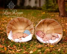Newborn Twins Photo Prop Hats in Pink Blue for Boy Girl. $50.00, via Etsy.