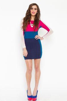 Yvonne Colorblock Dress--$78.00--www.nastygal.com