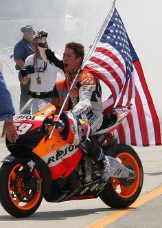 Nicky Hayden after winning Laguna Seca