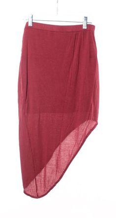 HELMUT HELMUT LANG Red Jersey Asymmetrical Hem Skirt Size XS #HELMUTHelmutLang…